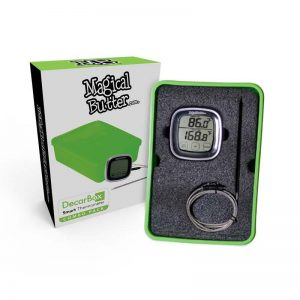 Magical Butter Decarbox and thermometer allows you to precisely bake your herbs for maximum potency in your cannabutter journey.