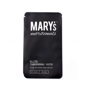 Mary's Nutritionals Elite Transdermal Hemp Patch contains 10mg of activated hemp extract for soothing sore joints and muscles in problem areas.