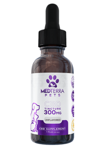 Medterra Pets 300mg CBD tincture is unflavored for pets who need added relief from joint pain, seizures, or general aging symptoms.