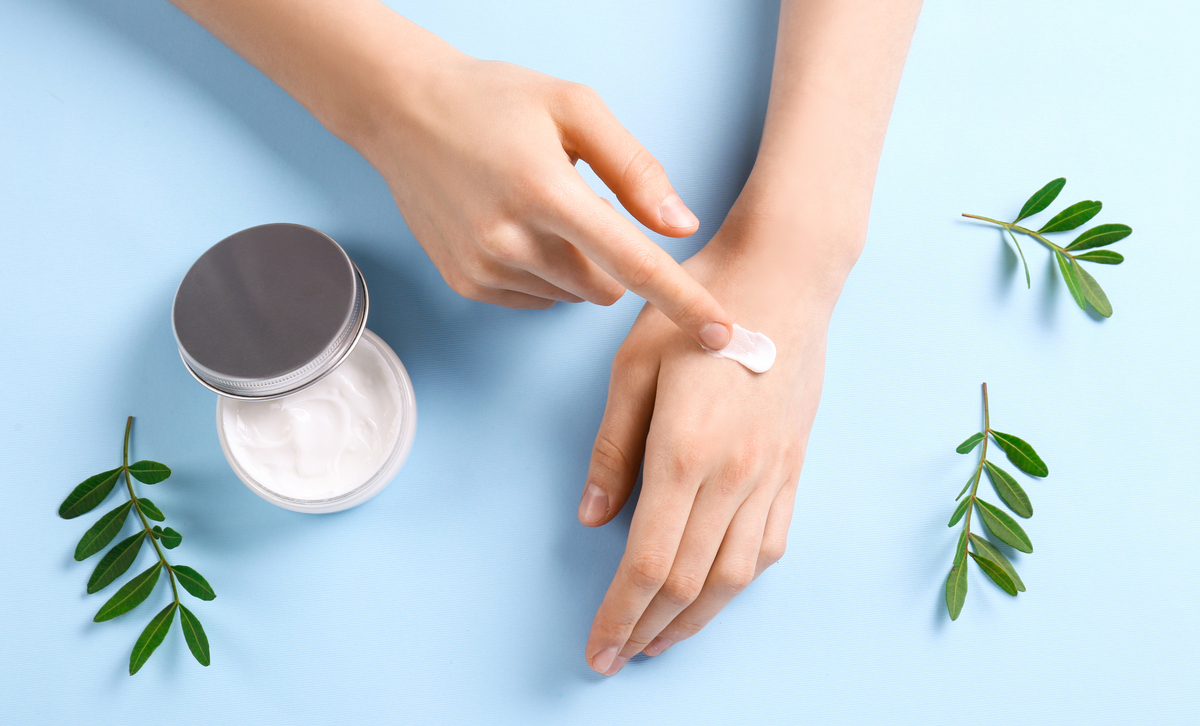 Rub topical CBD, such as Mary's Nutritionals Elite Compound, onto sore joints and muscles that are symptoms of arthritis.